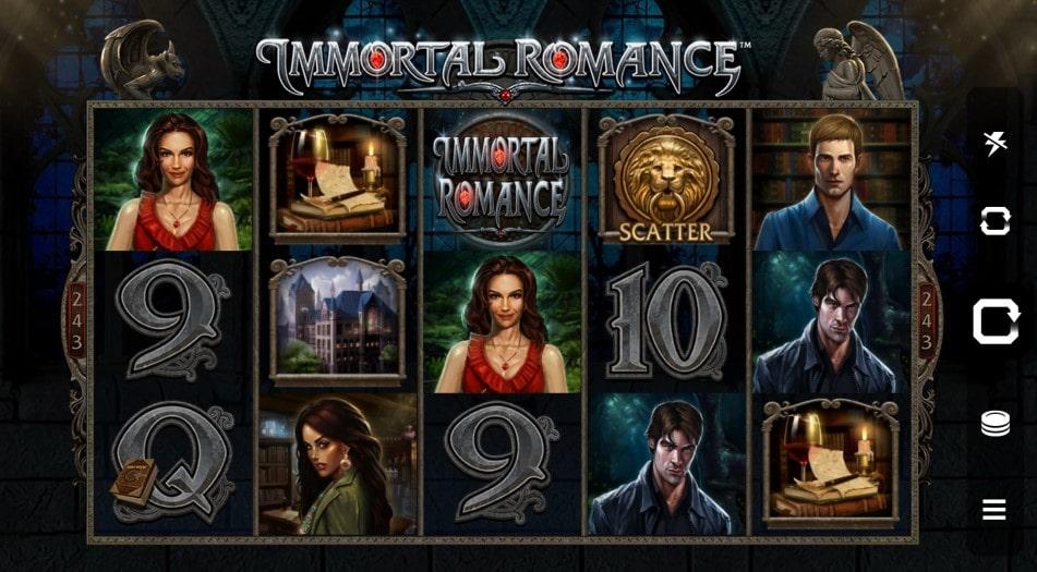 Характеристики онлайн слота Immortal Romance