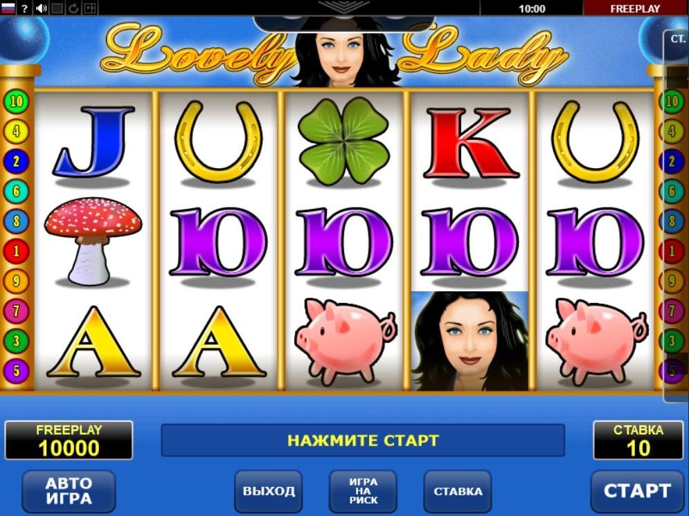 Характеристики игровой автомат Lovely Lady